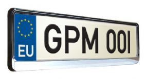 Chrome Number Plate Surround (Chrome Effect)